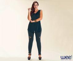 Uma produção total black tem ares de elegância e deixa quem usa com cara de mulherão. #weefashioncurves #curves #fashion