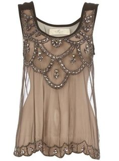 Brown Lace Top - I'd so totally wear this with a jean and be done with my outfit for a casual outing. Pretty Outfits, Beautiful Outfits, Cute Outfits, Beautiful Beautiful, Absolutely Gorgeous, Summer Outfits, Mode Chic, Mode Style, Look Fashion