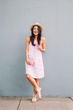 Striped Linen Shift Dress - Dallas Wardrobe // Fashion & Lifestyle BlogDallas Wardrobe // Fashion & Lifestyle Blog // Dallas