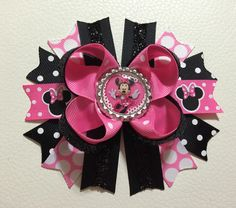 A personal favorite from my Etsy shop https://www.etsy.com/listing/286314535/minnie-mouse-stacked-hair-bow-disney