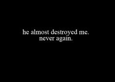 Never Again.