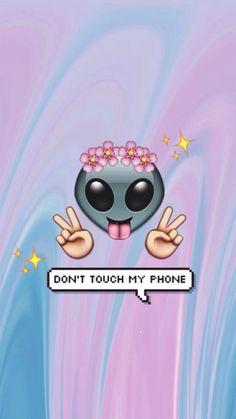 wallpaper, emoji, and alien afbeelding