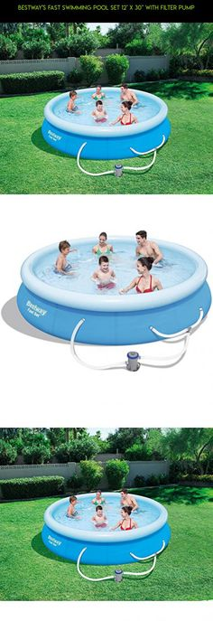 "Bestway's Fast Swimming Pool Set 12' x 30"" with Filter Pump #tech #gadgets #racing #technology #camera #pools #kit #30 #inches #drone #deep #shopping #products #plans #fpv #parts"