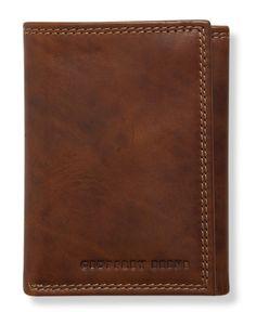 GEOFFREY BEENE NEW Men/'s Leather Messina Passcase Billfold Tan