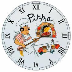 Clock Face Printable, Disney Clock, Shabby Chic Cafe, Chef Pictures, Coffee Clock, Deco Podge, Handmade Clocks, Cd Crafts, Kitchen Clocks