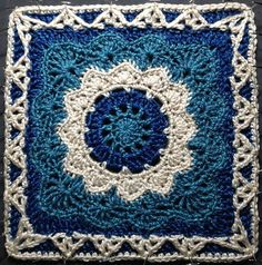 Ravelry: Project Gallery for Pizzazz 12 Square pattern by Melinda Miller Crochet Squares Afghan, Granny Square Crochet Pattern, Crochet Blocks, Afghan Crochet Patterns, Crochet Motif, Crochet Designs, Crochet Yarn, Crochet Stitches, Knitting Patterns