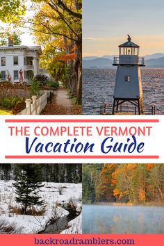 The Complete Vermont Vacation Guide for Outdoor Lovers Burlington Vermont, Le Vermont, New England States, New England Fall, New England Travel, Fall Vacations, Dream Vacations, Vacation Trips, Vacation Ideas