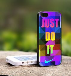 Nike Just Do It Triangels - For iPhone 5 Black Case Cover | TheCustomArt - Accessories on ArtFire