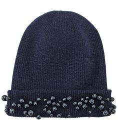 Maison Michel-Bizz Pearl Embellished Beanie