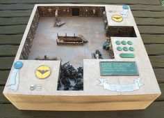 Oh pretty display board idea for Army On Parade by Dan Harden.