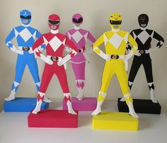 Compre Kit decoração festa Power Rangers no Elo7 por R  160 ec4f027f239f7