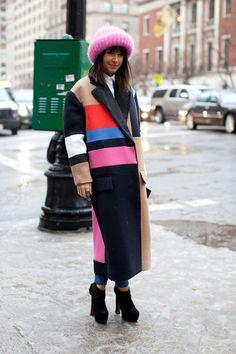 Miroslava Duma killing it at NYFW. #streetstyle #fashionweekstyle