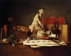 Jean-Simeon Chardin (1699-1779), Les Attributs des Arts, 1766, Hermitage Museum, St. Petersburg