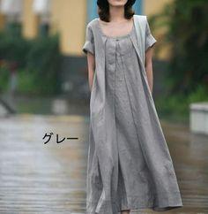 Parismadam | Rakuten Global Market: And hemp Obi(belt) attached pieces / short sleeve / natural elegance and adults dress / size-rich /XXS-XXXL /