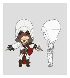 Chibi Ezio by martyisnothere.deviantart.com on @deviantART