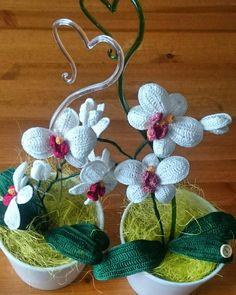 Crochet orchid, crochet flower