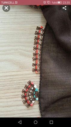 This Pin was discovered by Erg Saree Tassels Designs, Saree Kuchu Designs, Mens Kurta Designs, Blouse Designs, Embroidery On Kurtis, Kurti Embroidery Design, Hand Embroidery, Saree Border, Baby Knitting Patterns