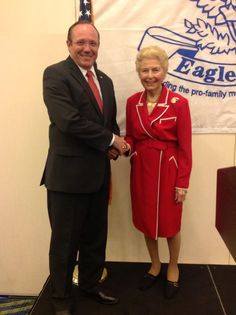 Rob Maness and Phyllis Schlafly at Eagle Council 2013.