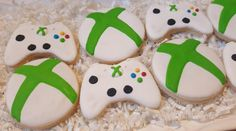 Birthday Games, 12th Birthday, Boy Birthday, Birthday Parties, Birthday Ideas, Cookie Games, Cookie Party Favors, Video Game Party, Party Games