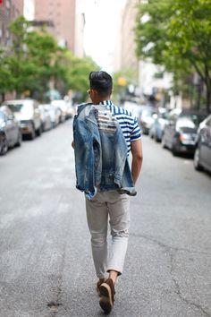Outfit: Men's Denim Jacket Blue Jeans Happy...   Closet Freaks   Menswear & Personal Style