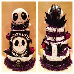 3 tier nightmare before christmas diaper cake halloween diaper showerbaby