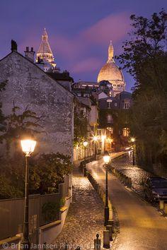 Montmartre w/Sacre Coeur, Paris, France.  © Brian Jannsen Photography