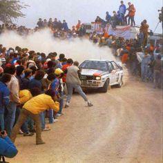 The original Stig line trimming. Audi Quattro   San Remo 1983.