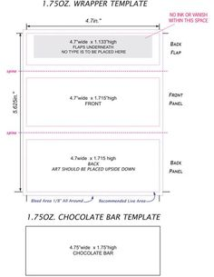 Where can i find free templates for commemorative candy for Chocolate bar label template