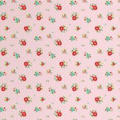 Tissu fleuri rose La Fabrique du canari