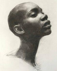 "4,898 Likes, 17 Comments - @mirthiferous on Instagram: ""Adja Kaba, by Oliver Sin @oliversin  #art #drawing #charcoal #charcoalart #figurative…"""