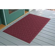 Bungalow Flooring Aqua Shield Elipse Doormat Size: 3' x 5', Color: Bordeaux
