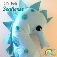 Is there a mermaid in the house in need of a lift?  Have no fear American Felt and Craft is here with the perfect solution.  This adorable felt hobby horse is actually pretty easy to make and g...