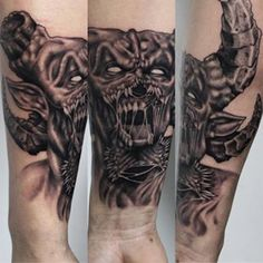 Still shot of the custom demon tattoo