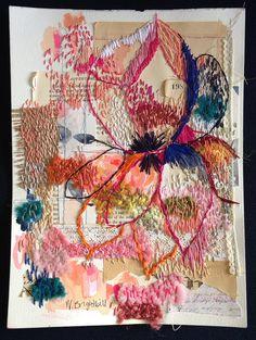 One Ninety Eight Stitched Original Collage by agirlandherbrush