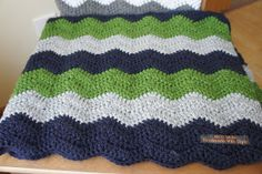 Chevron style crochet blanket