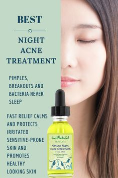 Natural Night Acne Treatment / A small amount will go a long way. Your face is the main part of your body that will always be exposed to practically everything like pollution, sun, and of course many times for women it is make-up. This is made with several ingredients not found in our other products. Immediately stops the breakout or pimple from getting bigger and helps it to disappear. Just Natural Products, Pomegranate Oil, How To Sleep Faster, Vitis Vinifera, How To Get Rid Of Acne, Acne Remedies, Natural Remedies, Cloud Strife, Natural Treatments