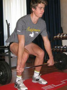 Peter Sagan does some leg squats