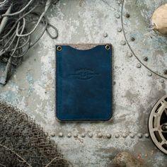 Ocean Blue Passport Wallet with SD cardholder