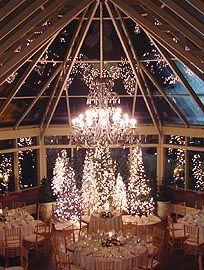 Glamorous venue for a winter wedding reception