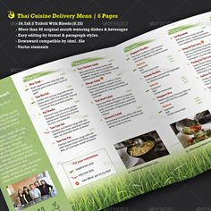 35 Best Tri Fold Menu Images Delivery Menu Restaurant Menu Design