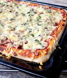 New Recipes, Cooking Recipes, Calzone, Hawaiian Pizza, Vegetable Pizza, Brunch, Vegetarian, Pasta, Lasagna