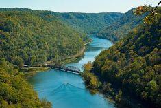 50 states photos - West Virginia: Hawks Nest Bridge, Macdougal