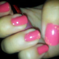 Pink e puntini orange