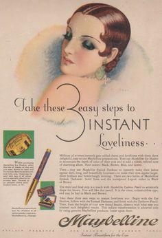 A Maybelline advertisement from the 1920s