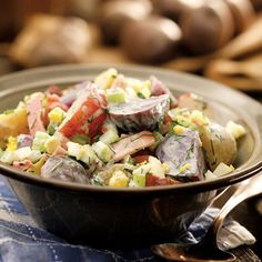 Country Potato Salad. Potato salad is a BBQ staple – and a dieter's nightmare. Here's a version that's so delicious, no one will believe it costs just 138 calories (plus 6 grams of protein!) per serving.