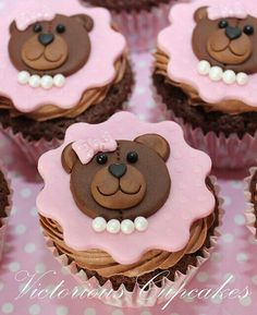 pastries.quenalbertini: Cute bear cupcakes