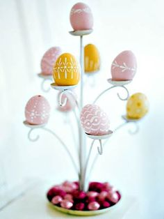 An Easter Tree using a candle holder.  Love it!