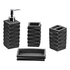 Spirella Etna Glitter Black Bathroom Accessories Beautiful Bathrooms Pinterest