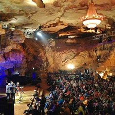 One of the best venues I've ever been to is the Cumberland Caverns of McMinnville, TN. It is the home of Bluegrass Underground. You duck into an old mine shaft on the side of a forest covered mountain and walk 333 ft below the earth past underground pools and waterfalls into what they call the Volcano Room. They have bluegrass concerts in here!