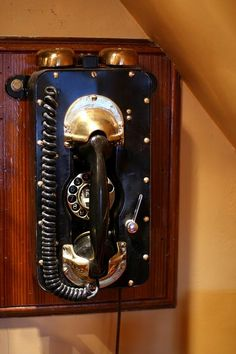 Steampunk phone: This dudes whole house is steampunk.